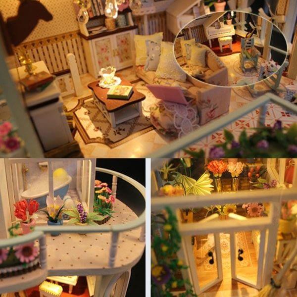 H157309814e5a4c0fa47c9411d809d2c2M 600x600Princess Villa DIY Miniature Dollhouse Kit