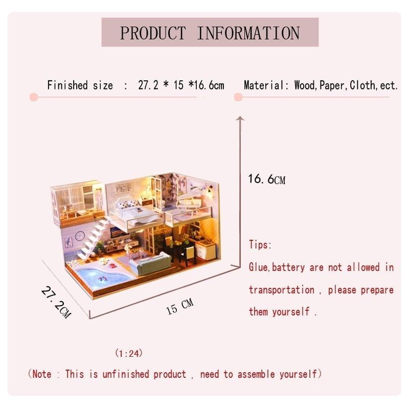Revos Loft DIY Miniature House Kit house and music3fe7fd9b93014213a0e638c498fba452w