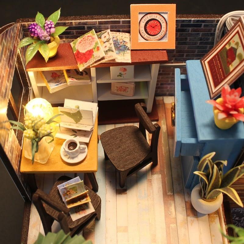 HTB1FAbaSpXXXXcIapXXq6xXFXXX6Happiness is a cup of coffee DIY Dollhouse