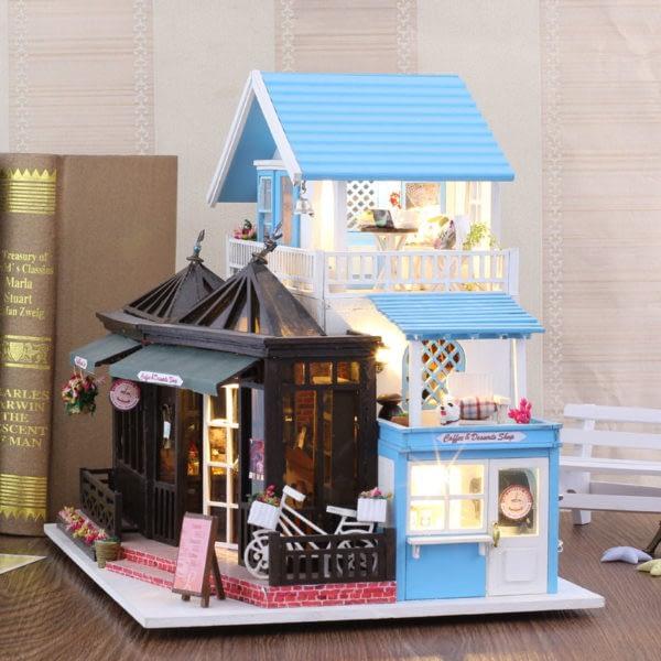 HTB1OegTcv9TBuNjy1zbq6xpepXaT 600x600Sweet Coffee DIY Miniature Dollhouse Kit