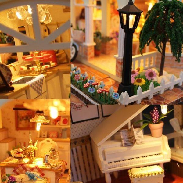H10cfb9fcd2434f04a0076268208be0e0D 600x600Princess Villa DIY Miniature Dollhouse Kit