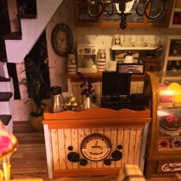 HTB1lrUQamMmBKNjSZTEq6ysKpXa7 600x600Sweet Coffee DIY Miniature Dollhouse Kit