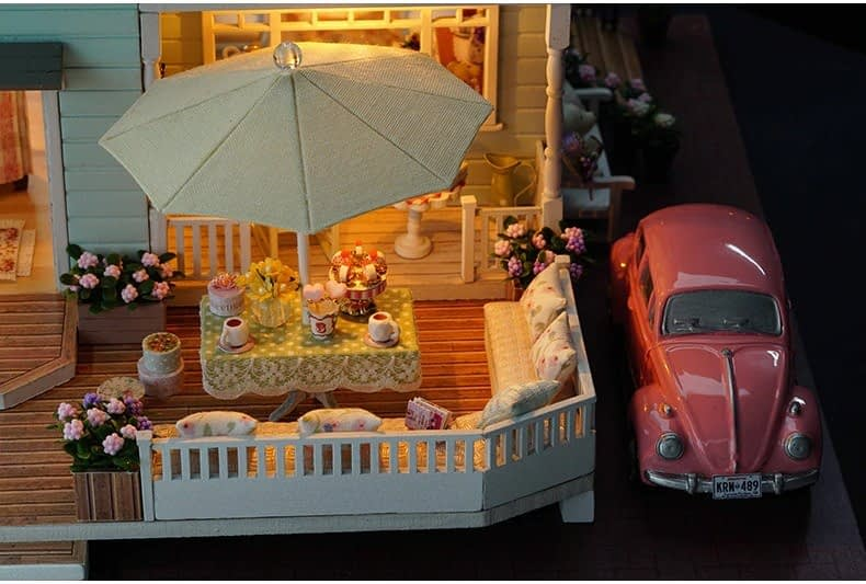 ssemble diy doll house toy wooden minia description 35