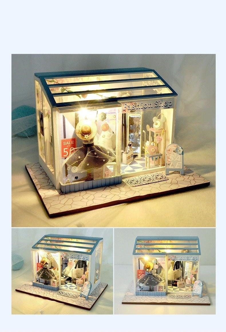 H6ee5faee51434553b9e0924c0dd24675yFashion Shop DIY Miniature Boutique Kit Manicure shop