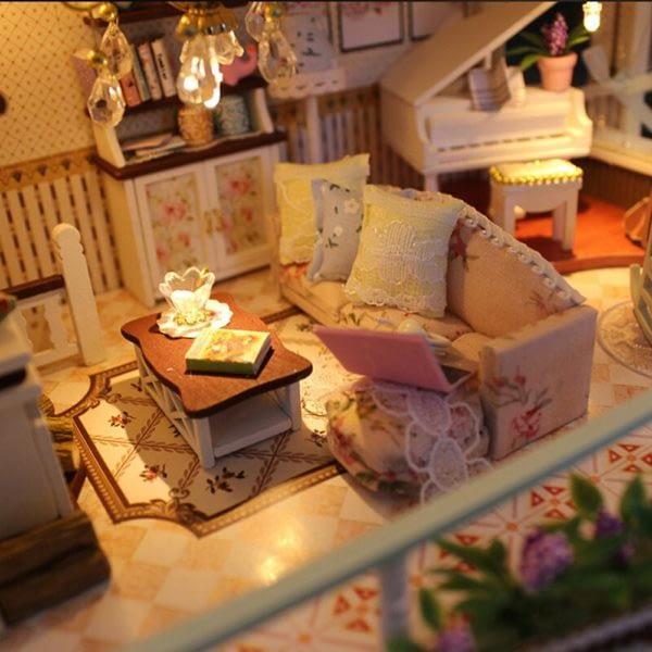 H19335a5b0e174f1592a8572a03c29b512 600x600Princess Villa DIY Miniature Dollhouse Kit