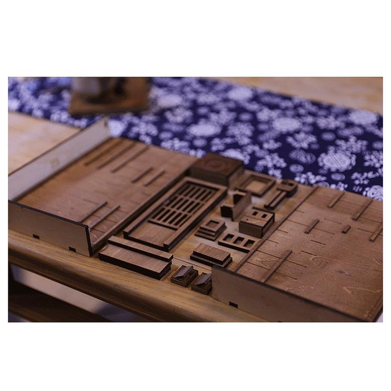 H0b45a564e1ca4308af8db8324a6a4b3fVStreet Rear Lane Miniature Booknook