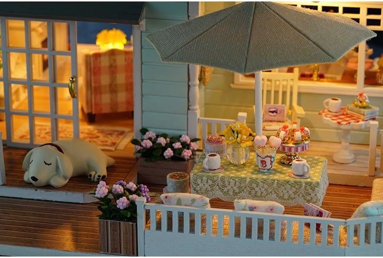ssemble diy doll house toy wooden minia description 34