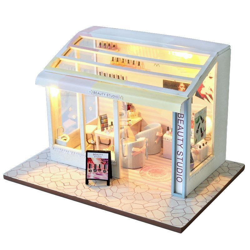 Beauty Shop DIY Miniature Store Kit Beauty shop10760c47c8784da0b24090091d84ac431 1