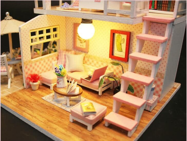 Pink Loft DIY Miniature Loft KitTB1n2gGd CWBKNjSZFtq6yC3FXaQ