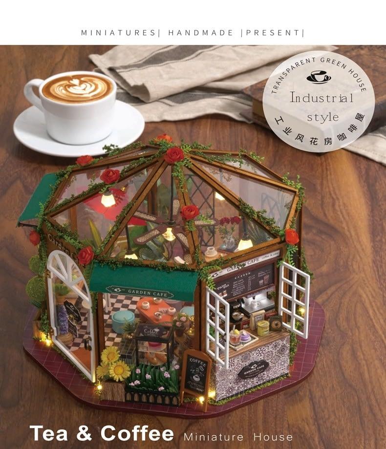 Garden Cafe DIY Miniature Kit GD01A522fa0ce9bf5491e9c9dbf207a8eaf30X