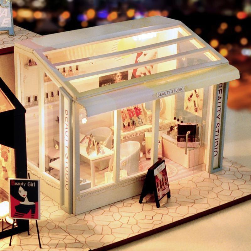 Beauty Shop DIY Miniature Store Kit Beauty shop4809253129564f88b9f6f2118abcb7838 1