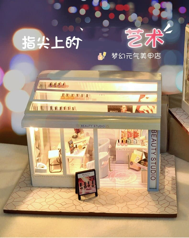 Beauty Shop DIY Miniature Store Kit Beauty shop0821313b52434d63ae5af5653236b877i