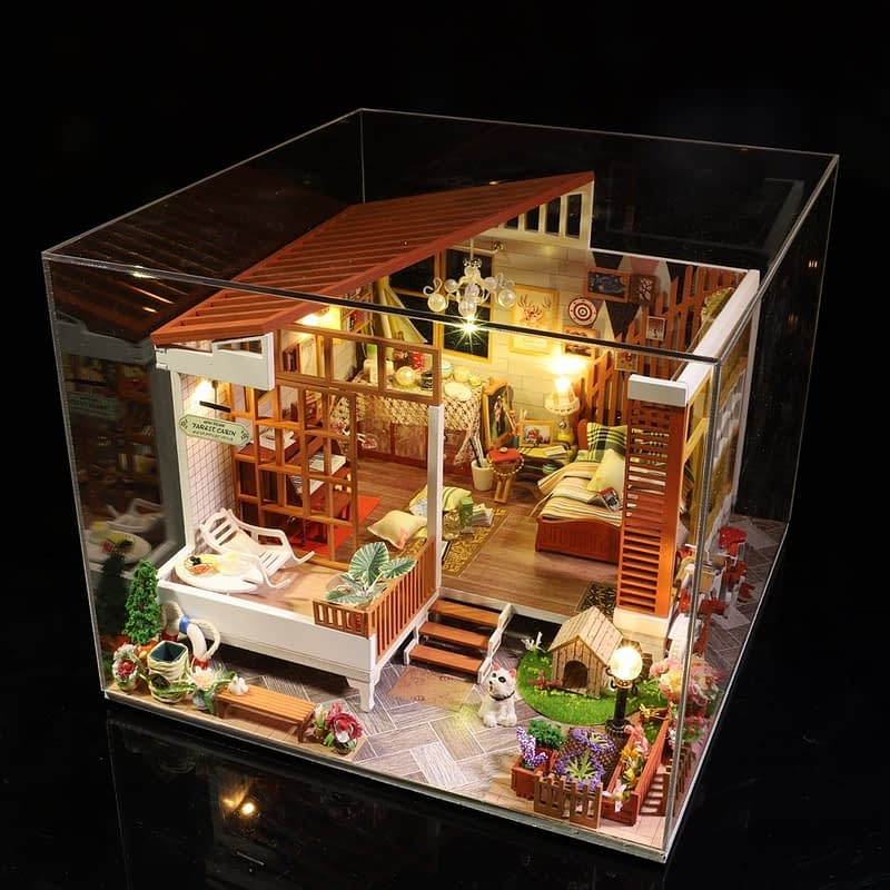 HTB1kutXasfrK1Rjy0Fmq6xhEXXaAWooden Cozy Dollhouse DIY Dollhouse Kit