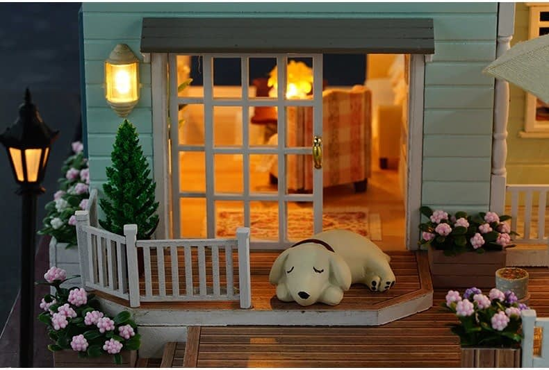 ssemble diy doll house toy wooden minia description 33